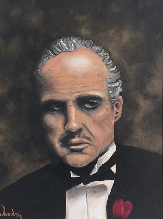 The godfather part l painted by John Noordzij