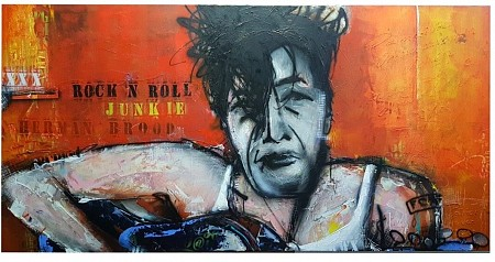 Herman Brood Rock 'n Roll Junkie painted by Patrick van Haren