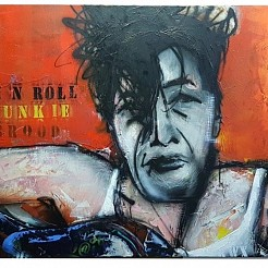 Herman Brood Rock 'n Roll Junkie painted by