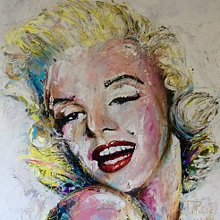 Marilyn Monroe painted by