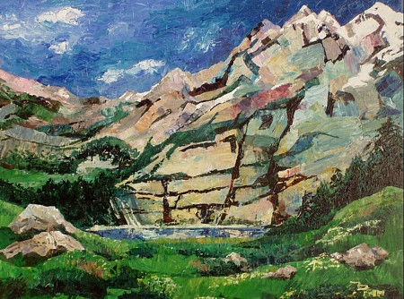Oeschinensee painted by Vera Wilting