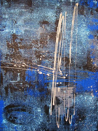 Misty Blue painted by Kitty van der Weide