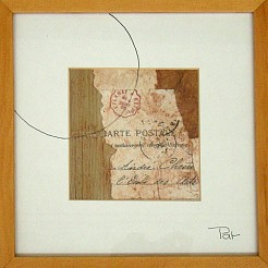 Carte postal painted by