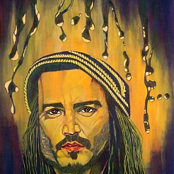 Johnny Depp painted by