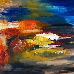 Landschap-abstract! painted by