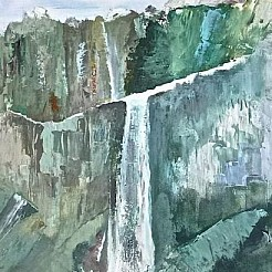 Waterval painted by