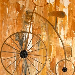 Oude Fiets painted by