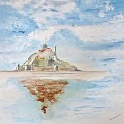 Mont Saint Michel painted by