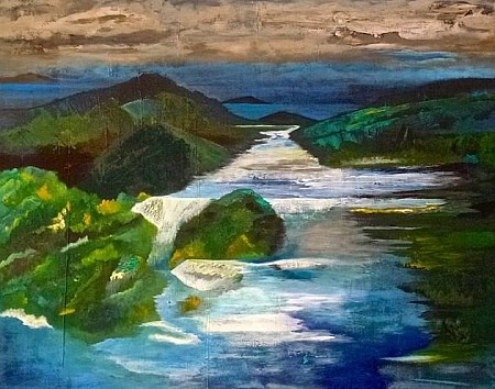 Waterval painted by Irene van Uxem