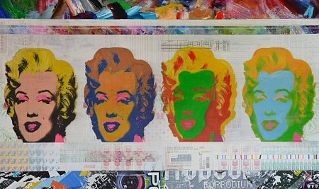 Marilyn Monroes painted by WVD ART