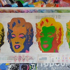 Marilyn Monroes painted by