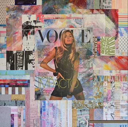 Vogue Doutzen painted by WVD ART
