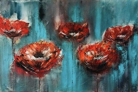 Poppies painted by Diney-Art