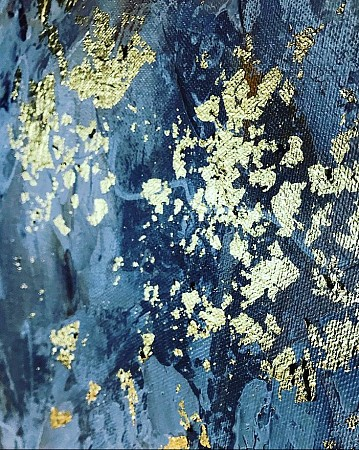 Gold leaf 1 painted by Diney-Art