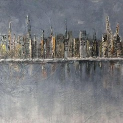 Skyline painted by