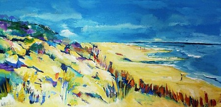 Strand painted by Loes Loe-sei Beks
