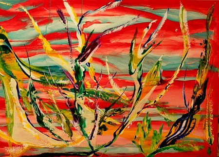 Rood riet painted by Kuhlmann Kunst