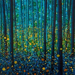 Fireflies painted by