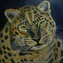 Panter painted by
