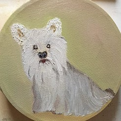 Lovely dog painted by