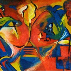 A la Kandinsky painted by