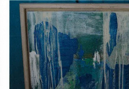 Untitled abstract  - groen met blauw painted by QUINTAINE MODERN ART
