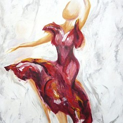 Flamenco painted by