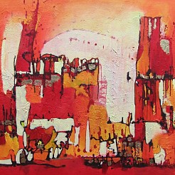 Red Village painted by